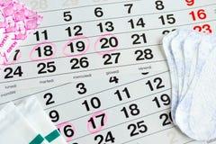 Santé protectrice de femme, jours de règles Photo stock
