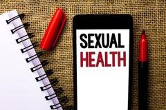Santé sexuelle des textes d'écriture Concept signifiant le soin sain de sexe d'habitudes de protection d'utilisation de préventio image stock