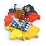 Santé, soins de santé, médecine et pharmacie dans le concept de l'Allemagne Pi Images libres de droits