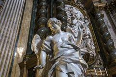 Sant伊格纳措教会,罗马,意大利 库存图片