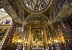 Sant伊格纳措教会,罗马,意大利 免版税库存照片