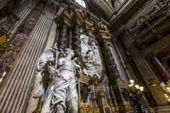 Sant伊格纳措教会,罗马,意大利 免版税库存图片