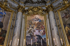 Sant伊格纳措教会,罗马,意大利 图库摄影