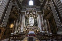Sant伊格纳措教会,罗马,意大利 免版税图库摄影