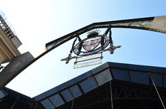 Sant何塞普de la Boqueria市场的正门在巴塞罗那,西班牙 免版税库存照片