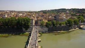 Sant安吉洛桥梁在罗马 股票录像