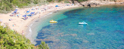 Sant安德里亚小海湾,厄尔巴岛海岛,意大利 库存图片