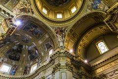Sant安德里亚della瓦尔大教堂,罗马,意大利 免版税库存图片