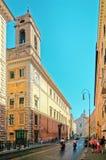 Sant安德里亚della瓦尔教会在Corso del Rinascimento 库存图片