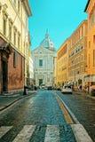 Sant安德里亚della瓦尔教会在Corso del Rinascimento 免版税库存图片