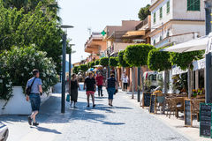 Sant榆木城市,古雅购物街道在小镇圣特尔莫, 免版税库存图片