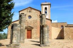 Sant的Appiano,意大利老罗马式教堂 免版税库存照片