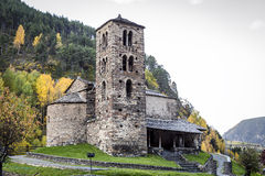 sant第12个安道尔编译canillo caselles century church de joan的罗马式 库存图片
