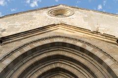 Sant迪奥尼西奥教会,假定正方形,赫雷斯de la弗隆特里, S 图库摄影