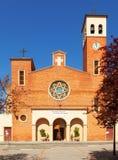 Sant阿德里亚教区教堂  卡塔龙尼亚 库存图片