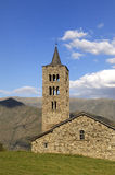 Sant ακριβώς και εκκλησία παστόρων Sant, XIXII αιώνας Romanesque, Son de pi, Pallars Sobira, Lleida, Καταλωνία, Ισπανία Στοκ Εικόνες