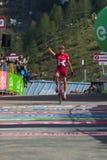 Sant Анна, Италия 28-ое мая 2016; Натянуйте вожжи Taaramae, команда Katusha, вымотанные пропуски финишная черта и выиграйте трудн Стоковое Фото