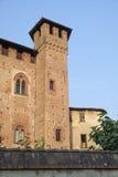 Sant `安吉洛Lodigiano意大利:中世纪城堡 免版税库存照片