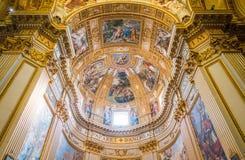 Sant `安德里亚della瓦尔大教堂在罗马,意大利 免版税库存图片