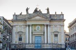 Sant ` Agata alla福尔纳切或圣比亚焦在卡塔尼亚,意大利 免版税库存照片