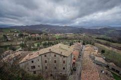 SANT'AGATA FELTRIA. Panorama of Sant'Agata Feltria Royalty Free Stock Image