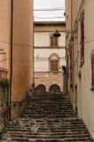 SANT'AGATA FELTRIA. Street of Sant'Agata Feltria Stock Images