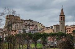 SANT'AGATA FELTRIA. View of Sant'Agata Feltria Stock Image