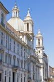 Sant Agnese教会在极度痛苦的 免版税库存照片