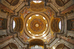 Sant'Agnese教会在过去,纳沃纳广场,罗马的 库存照片