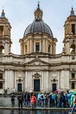 Sant`Agnese in Agone also called Sant`Agnese in Piazza Navona a 17th century Baroque Church in Rome royalty free stock photo