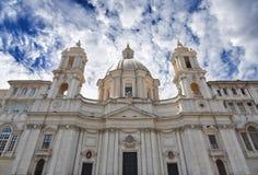 Sant Agnese in Agone bij Piazza Navona in Rome Stock Afbeelding