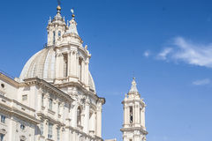 Sant'Agnese in Agone church, Piazza Navona. Royalty Free Stock Photo