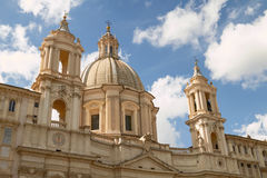 Sant'Agnese in Agone Church on the Piazza Navona in Rome Italy Stock Photos