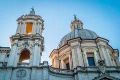 Sant Agnese in Agone-kerk in Rome Stock Afbeelding