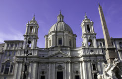 Sant'Agnese in Agone, Piazza Navona Royalty Free Stock Photo
