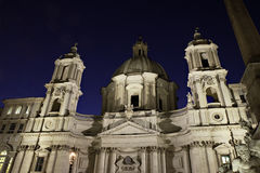 Sant Agnese in Agone on Piazza Navona Royalty Free Stock Photo
