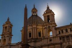 Sant Agnese in Agone in Piazza Navona Stock Foto's