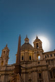 Sant Agnese in Agone in the Piazza Navona Royalty Free Stock Photo