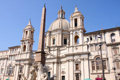 Sant'Agnese in Agone, Piazza Navona in Rome Royalty Free Stock Image