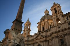 Sant`Agnese in Agone - Piazza Navona Rome royalty free stock photo