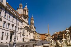 Sant`Agnese in Agone stock photo