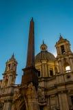Sant Agnese en Agone en la plaza Navona Imagen de archivo libre de regalías