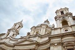 Sant'Agnese na igreja Agone, barroco em Roma, Itália fotos de stock royalty free