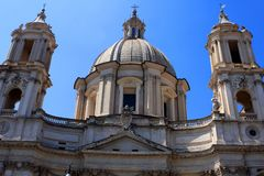 Sant 'Agnese na igreja Agone, Roma fotos de stock