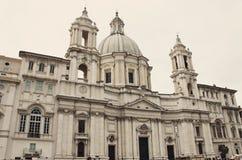 Sant ` Agnese w Agone, Barokowym kościół w Rzym, Włochy Zdjęcia Royalty Free
