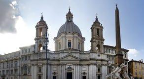 Sant Agnese w Agone kościół Zdjęcie Stock