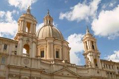 Sant'Agnese w Agone kościół na piazza Navona w Rzym Włochy Zdjęcia Stock