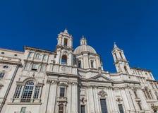 Sant ` Agnese w Agone kościół przy piazza Navona w Rzym Fotografia Stock