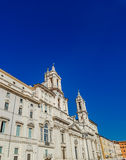 Sant ` Agnese w Agone kościół przy piazza Navona w Rzym Zdjęcie Stock