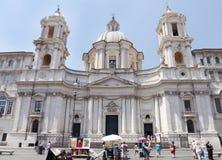 Sant Agnese w Agone kościół w antycznym piazza Navona Zdjęcia Stock